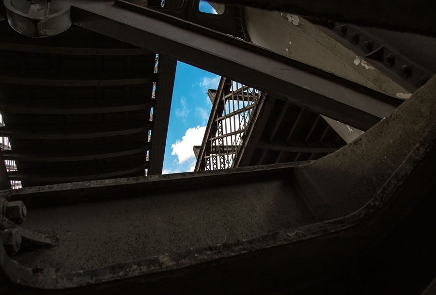 Layers of viaducts in Castlefield, Manchester