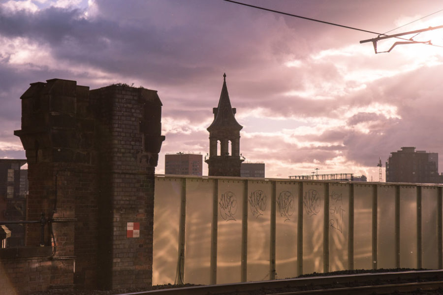 Deansgate Station sunset in Manchester, England by Ian Philip Thompson