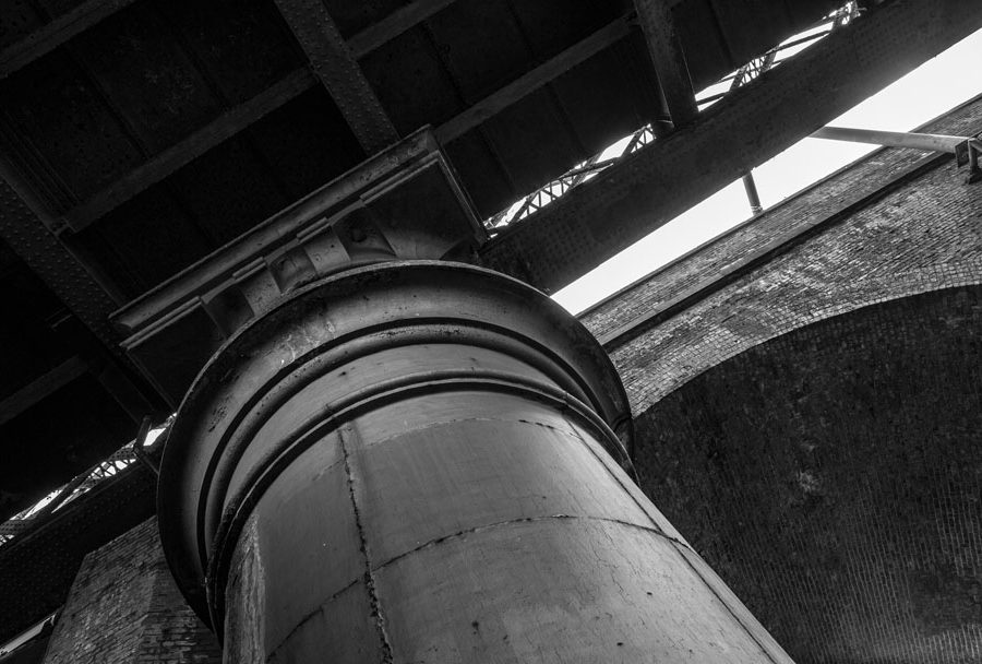 Another great shot of the column capital of the Great Northern Viaduct in Manchester, a historical relic hiding in plain site in Castlefield.