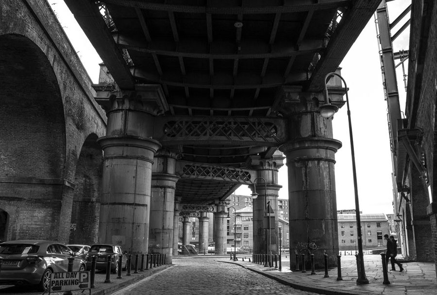 The Great Northern Viaduct in Manchester's Castlefield neighbourhood by Ian Philip Thompson